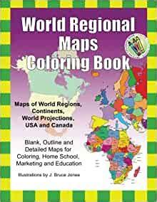 World Regional Maps Coloring Book amazon