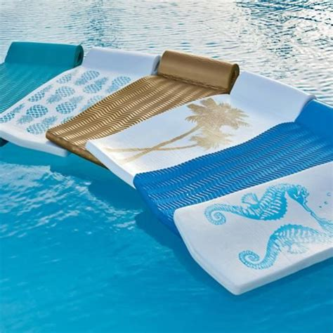 World s Finest Pool Float in Sea Blue Frontgate