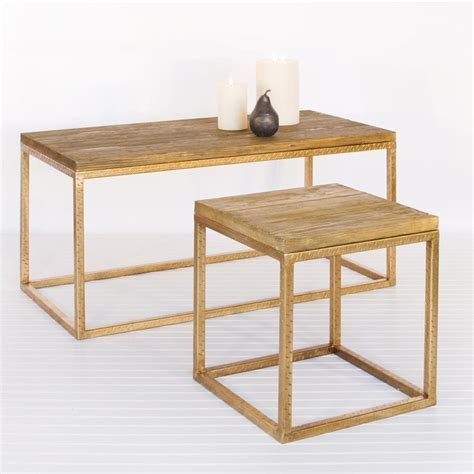 Worlds Away Rectangular Gold Leaf Coffee Table Houzz