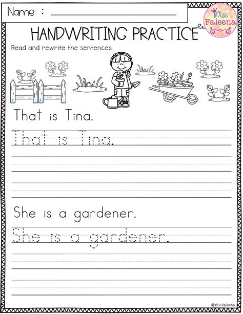 Writing Sentences Worksheets Free Printables for Kids