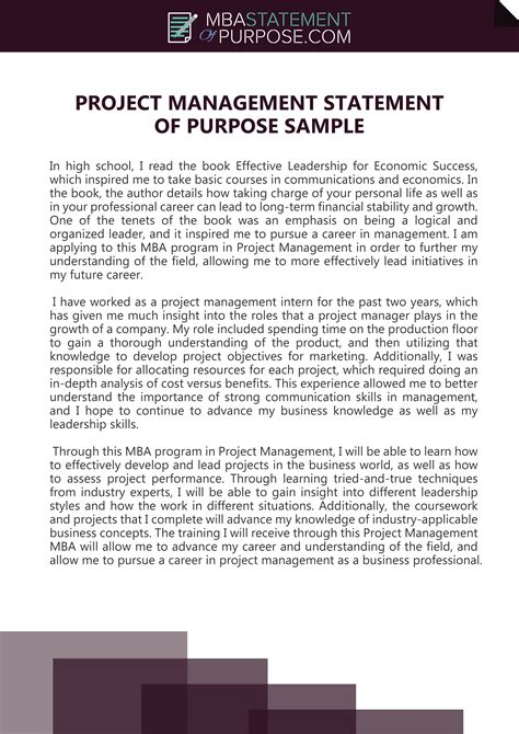 Writing a Statement of Purpose Samples Tips Resources