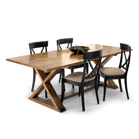 X Base Dining Table Solid Wood Table Woodcraft