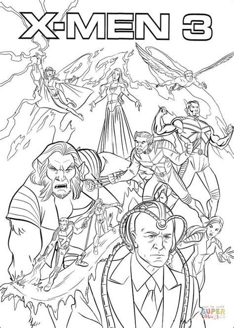 X Men 3 coloring page Free Printable Coloring Pages