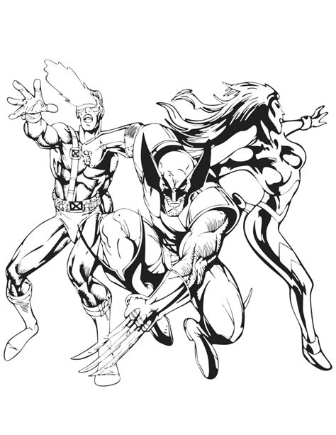 X Men Coloring Pages GetColoringPages