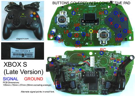 xbox 360 controller circuit diagram images circuit diagram active xbox 360 and original xbox controller pcb diagrams for