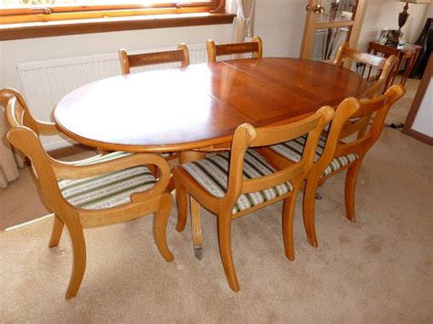 Yew Dining Table and Chairs eBay