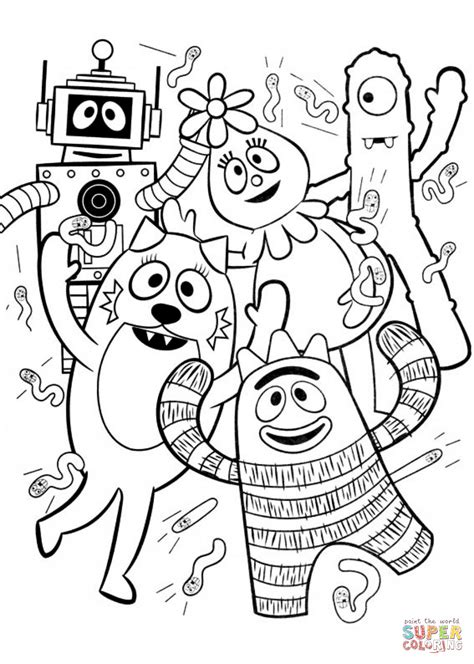 Yo Gabba Gabba coloring pages Free Coloring Pages
