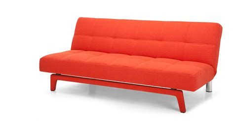 Yoko Sofa Bed in saffron orange made