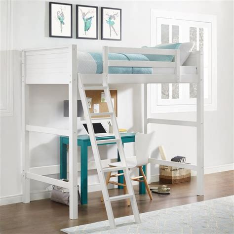 Your Zone Twin Wood Loft bed Multiple Colors Walmart