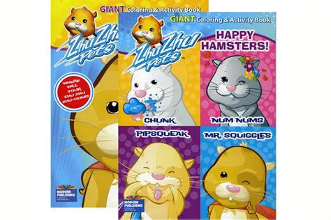 Zhu Zhu Pets Giant Coloring and Activity Book Happy