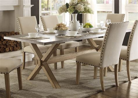 Zinc top dining table is it durable with kids