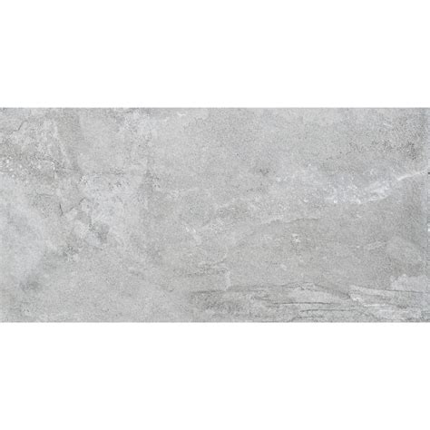 a 12 x 24 inch gray slate tile The Home Depot