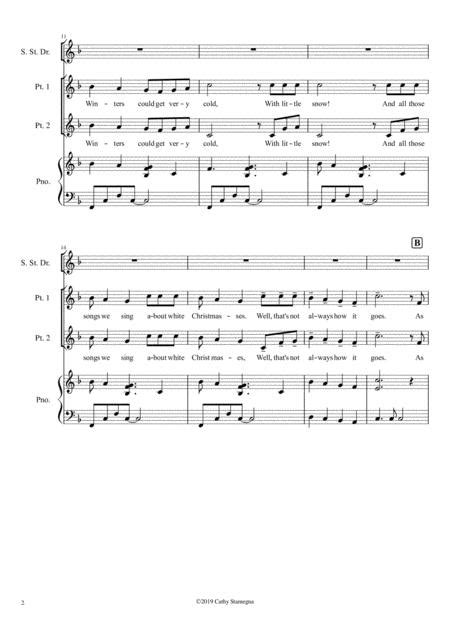 A Caribbean Holiday For Unison Or 2 Part Choir And Piano With Optional Steel Drum  music sheet