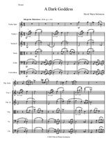 A Dark Goddess For Violin Solo And String Orchestra  music sheet