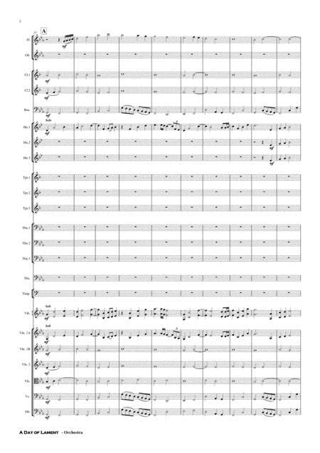 A Day Of Lament Days Of Change Mov 2 Orchestra  music sheet