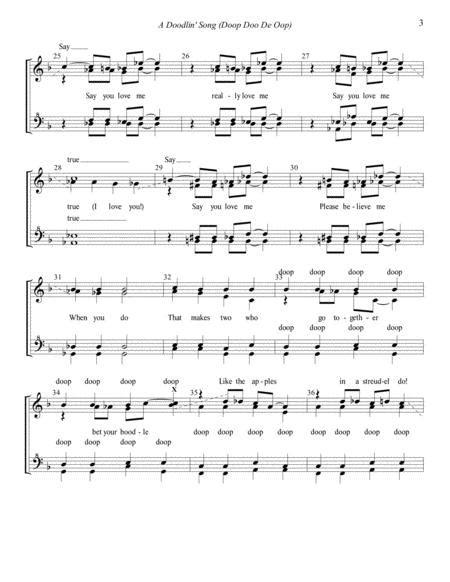 A Doodlin Song Doop Doo De Oop Choral Pricing music sheet