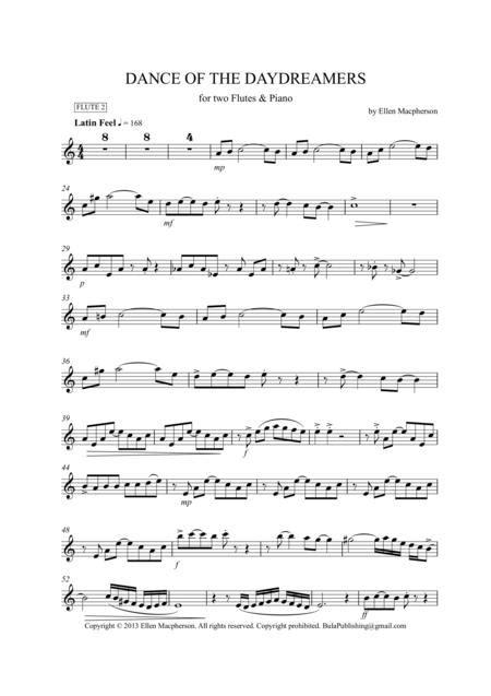 A Latin Flute Duet Dance Of The Daydreamers  music sheet