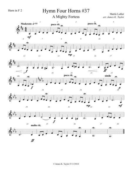 A Mighty Fortress Horn Quartet 37  music sheet