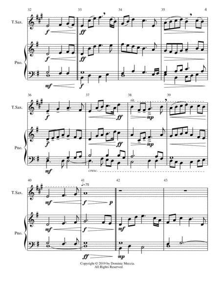 A Moms Gift A Baritone Sax And Piano Duet  music sheet