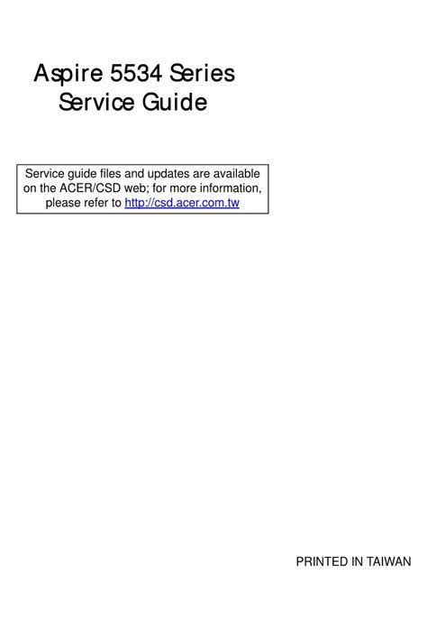 free download ebooks Acer 5534 Repair Manual.pdf