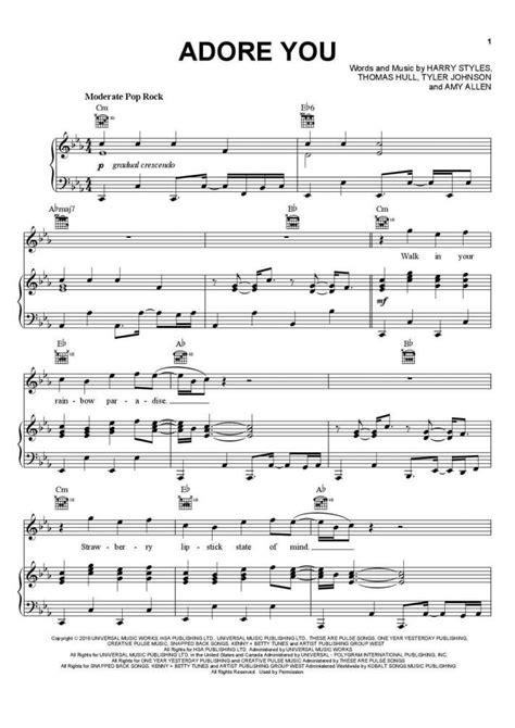 Adore You  music sheet