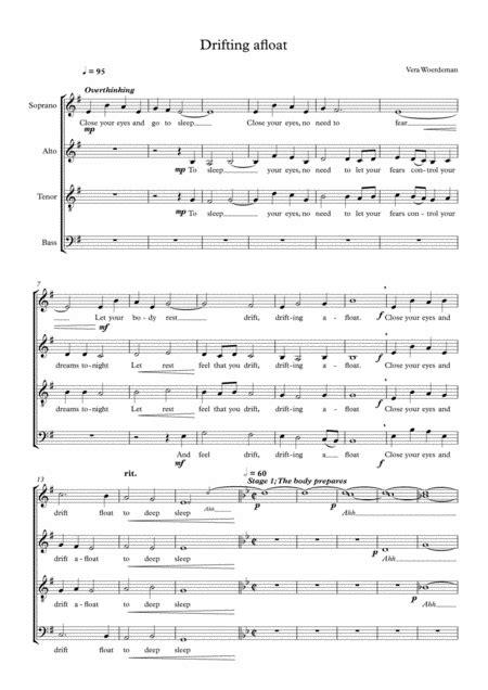 Afloat  music sheet