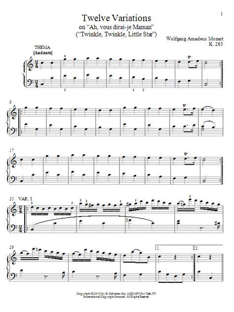 Ah Vous Dirai Je Maman Variations On Twinkle Twinkle Little Star Saxophone Quartet Version  music sheet