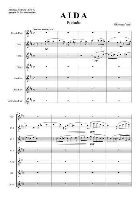 Aida Preludio Flute Choir  music sheet