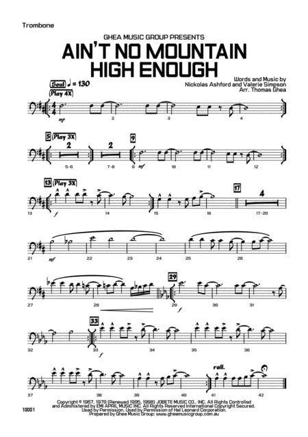 Aint No Mountain High Enough Party Band  music sheet