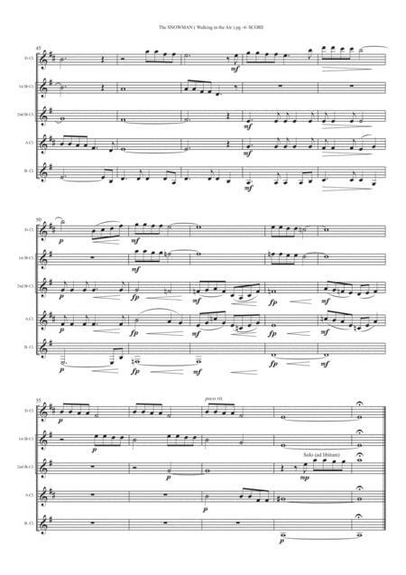 Air Clarinet Quintet  music sheet