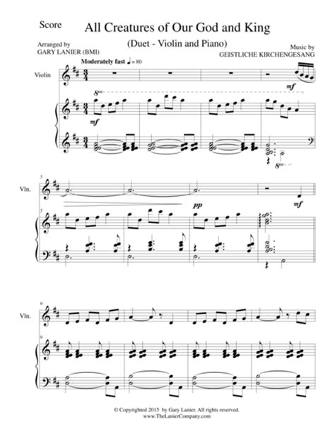 All Creatures Of Our God And King Duet Viola And Piano Score And Parts  music sheet
