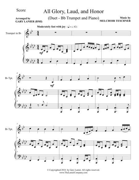 All Glory Laud And Honor Duet Bb Trumpet Piano With Parts  music sheet