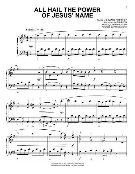 All Hail The Power Of Jesus Name Oboe Piano And Oboe Part  music sheet