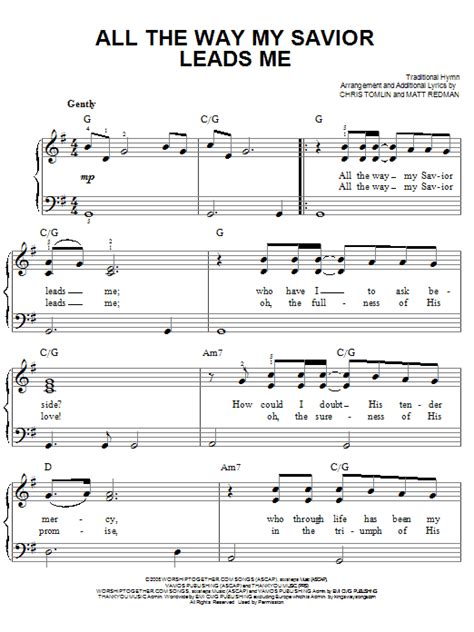 All The Way My Savior Leads Me Piano Accompaniment For Satb Choir With Flute  music sheet