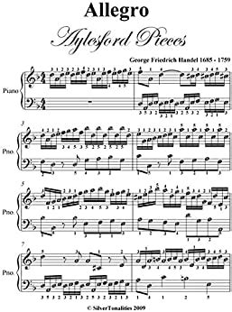 Allegro Aylesford Pieces Easy Piano Sheet Music  music sheet