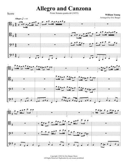 Allegro For Trombone Or Low Brass Quartet  music sheet