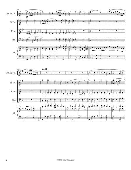 Alleluia Alleluia Melody Is Ode To Joy Brass Trio Bb Trumpet Two Trombones Optional Bb Trumpet Keyboard Accompaniment  music sheet