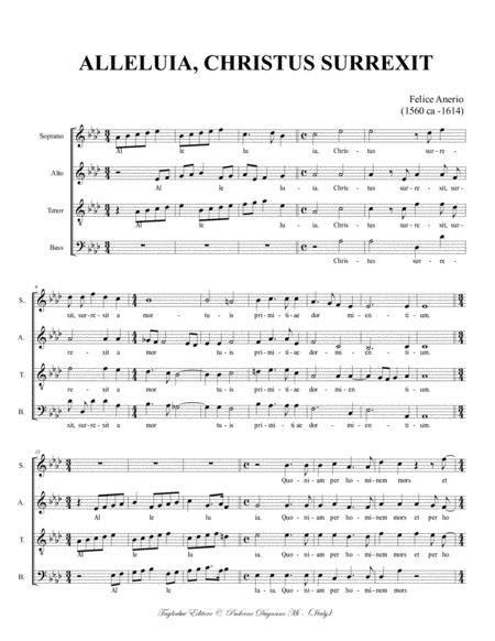 Alleluia Christus Surrexit Anerio F For Satb Choir  music sheet