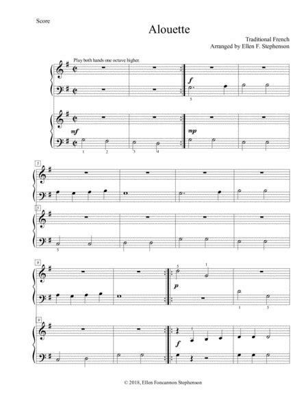 Alouette 1p 4h  music sheet