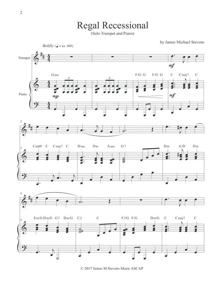 Always Recessional For Solo Piano  music sheet