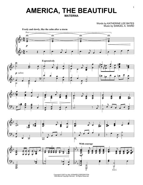 america the beautiful piano background for viola and piano music sheet