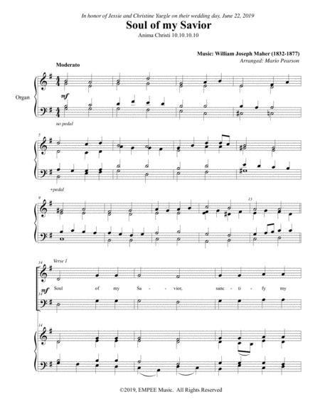 Amina Christi Soul Of My Savior With Aria By Js Bach  music sheet