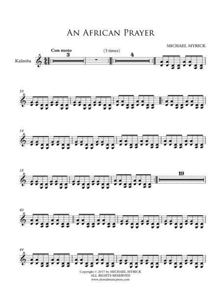 An African Prayer Instrument Parts  music sheet