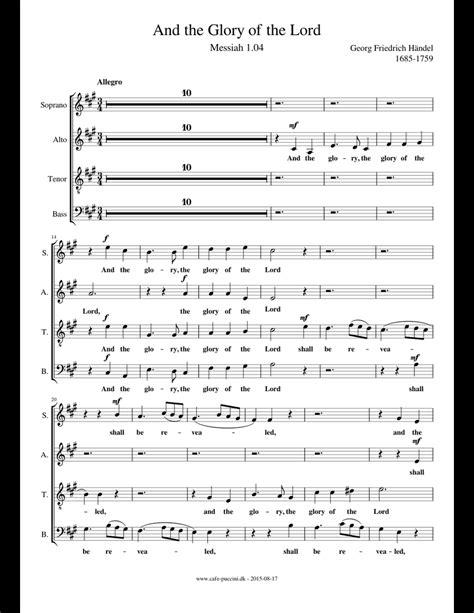 And The Glory Of The Lord Messiah Part For Bass Mp3  music sheet