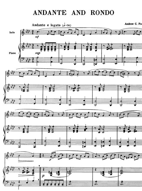 Andante And Rondo For Two Clarinets And Orchestra  music sheet