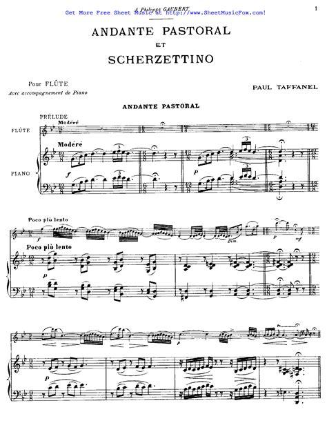 Andantino Pastoral  music sheet