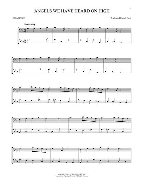 Angel Original Key Trombone  music sheet