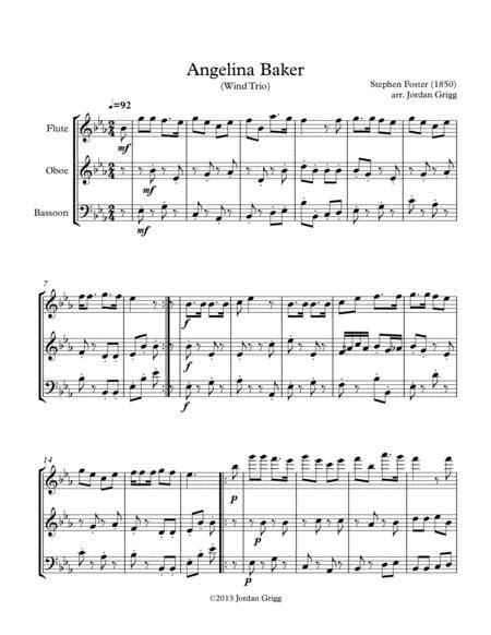 Angelina Baker Wind Trio  music sheet