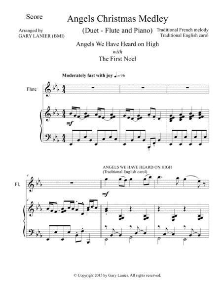 Angels Christmas Medley Piano Accompaniment For Tenor Bass Duet  music sheet