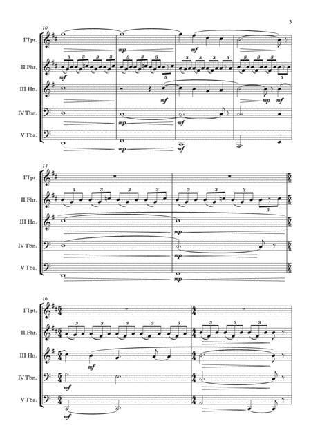 Angels Demons Science Religion Hans Zimmer Brass Quintet Arr Adrian Wagner  music sheet
